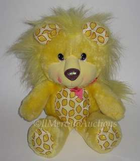 Vtg 1989 HALLMARK YUM YUMS Plush Yellow LUCKY LEMON LION Stuffed