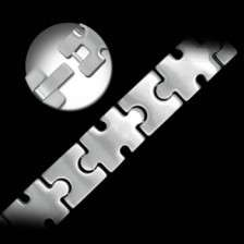 Autism Awareness Stainless Steel Puzzle Piece Bracelet