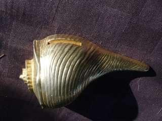 unique 1960 s ocean theme ted arnold ltd gold painted cast iron conch