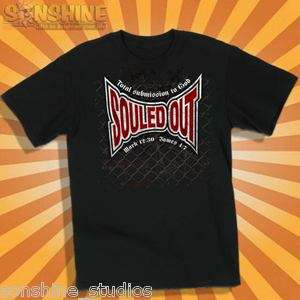 CHRISTIAN ADULT T SHIRT SOULED OUT MMA TAPOUT UFC Kerusso Faith Gear
