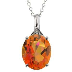 4.16 Ct Oval Twilight Orange Mystic Quartz and Topaz 10k