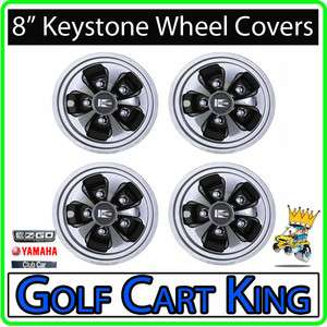 Keystone Golf Cart Wheel Covers Hub Caps  Set of 4