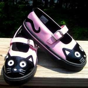 TUK NEW Girls 10 11 12 13 PINK KITTY MARY JANE Sneakers