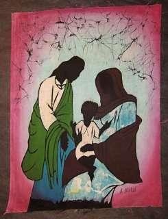 African Batik Holy Family nativity Christmas new nba54