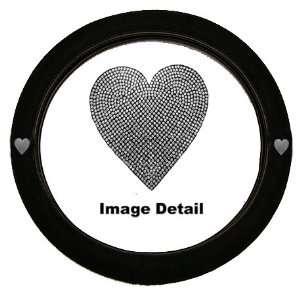 Sweet White Heart Sequin Car Truck SUV Steering Wheel
