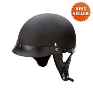 HCI 100 Matt Black Motorcycle / Scooter Half Helmet (X