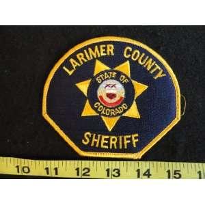 Larimer County Colorado Sheriff Patch on PopScreen