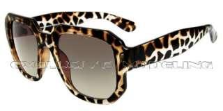 Modeling Cool Transparent Leopard Glamorous Retro Fashion Sunglasses