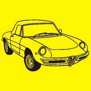 Neues T Shirt mit  Alfa Spider  Motiv Bj.66 69 Cabriolet, Roadster