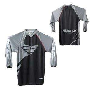 Fly Racing Free Ride Jersey   2007   Small/Black/Grey Automotive