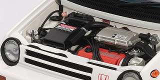 Autoart HONDA CITY TURBO II WHITE WITH MOTOCOMPO IN RED 73282 NIB 118