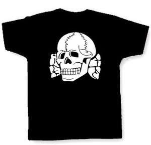 TOTENKOPF T SHIRT , S 3X , deathshead, ss, skinhead, iron cross, skull