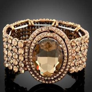 ARINNA topaz fashion swarovski crystals bangle Bracelet