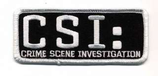 CSI Logo Chest/Cap Patch  4 Crime Scene Investigator