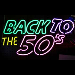 5BACKX Back to the 50s Neon Sign