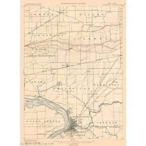 USGS TOPO MAP TONAWANDA QUAD NEW YORK (NY) 1900