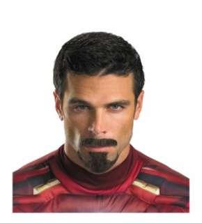 Iron Man Tony Stark Moustache & Beard Costume Kit