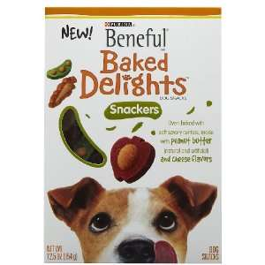 Beneful Baked Delights Snackers, Peanut Butter & Cheese, 12.5 z