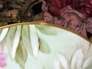 RICHARD GINORI HAND PAINTED BOLD PINK ROSES PLATE Signed