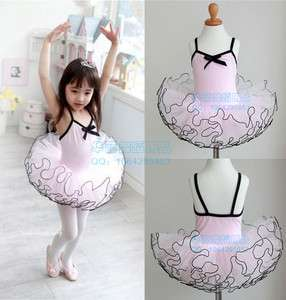 New Girls Ballet Costume Tutu Party Leotard Skirt Dance Skate Dress SZ