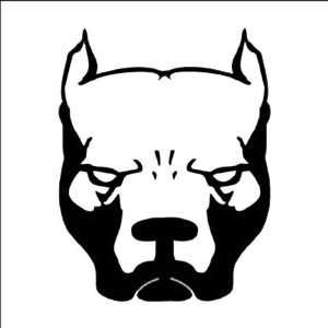 PIT BULL DOG Black 5 Vinyl STICKER/DECAL for Cars,Trucks