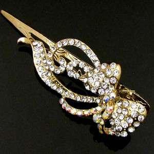 ADDL Item , 1pc Austrian rhinestone crystal bow tie hair