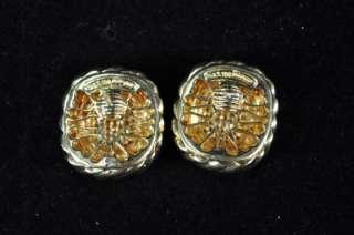 David Yurman Estate 18k Gold Earrings With Diamonds  1.00 Carat Weight
