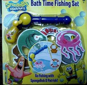 SPONGEBOB SQUAREPANTS BATH TIME FISHING SET {NIB}
