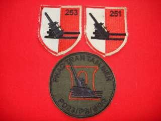 Vietnam War 3 ARVN Army ARTILLERY Battalions Patches