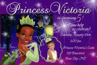 Princess Tiana and the Frog Custom Birthday Invitation