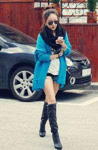 Preppy Look Fashionable Batwing Sleeve Casual Loose Knitting Wool