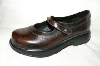 Leather Mary Janes Womens Shoes 39 / 8.5 9 Made in Portugal