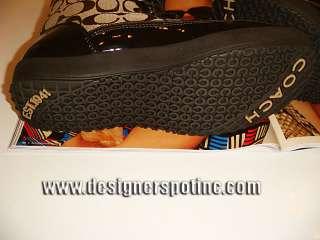 New Coach Peggey Signature Khaki Brown Beige Boots Sz 5.5 Ret $198