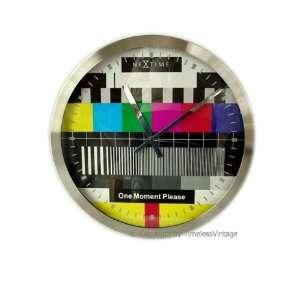 Retro Television Color Bar Urban Decor Wall Clock