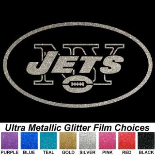 New York Jets Ultra Metallic Auto Car Truck Window Sticker Decals