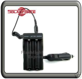 Solarforce 100 220V Home & Car Travel Charger For 18650