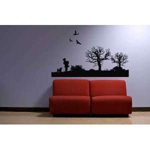 Tree and Birds Vinyl Wall Decal Sticker Sunset Walk