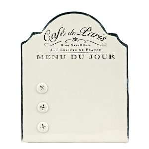 America Retold Café de Paris Enamel Menu Board Home & Kitchen