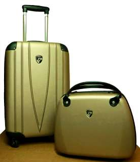 Spinner 2Pc Luggage Set 21 Carry on & Bellezza Beauty Case NEW