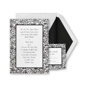 Modern Black Roses Invitation