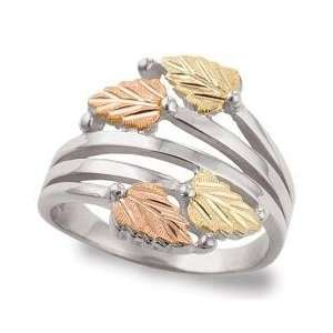silver & Rose & Rose Gold Black Hills Gold Womens High Fashion Ring