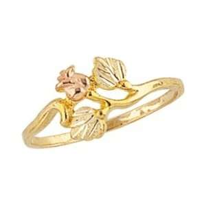 Beautiful! 10k Yellow gold Black Hills Gold Womens Rose Ring: Jewelry
