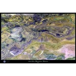Anti atlas Mountains Satellite Map, 24x36