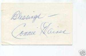 Connie Haines Jazz Big Band Singer Signed Autograph