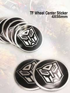 4PCS 55mm Transformers Autobots Wheel Center Hub Caps Sticker