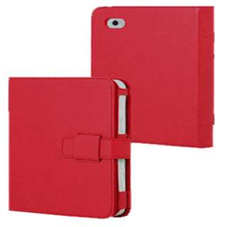 New Red Leather Case Cover Pouch Stand For Apple iPad 2