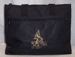 Cutting Horse Portfolio Tote Bag Black NCHA reining