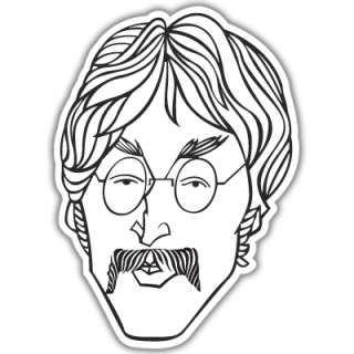 The Beatles John Lennon car sticker decal 5 x 4