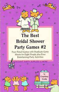 The Best Bridal Shower Party Games Book