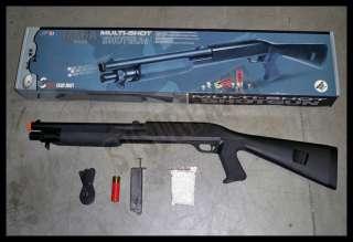 M56A Airsoft Tactical TRIPLE Metal Barrel Pump Shotgun
